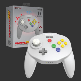 Tribute64 2.4GHz Wireless Controller (Classic Grey)