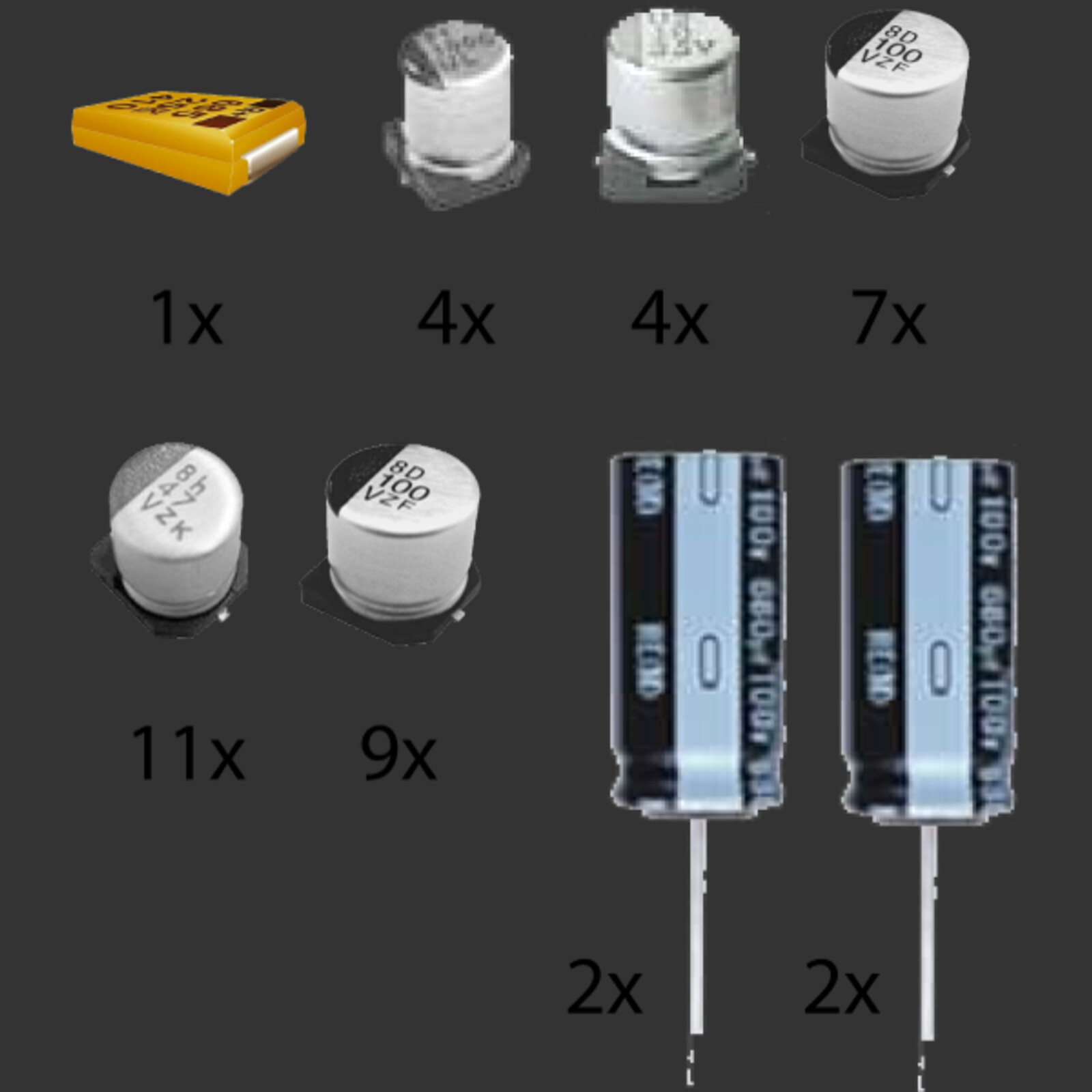 Amiga 1200 Series Capacitor Kit