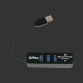 USB 2.0 3-Port Hub with MicroSD and SD-Card Reader